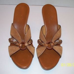 Cole Haan Golden Brown Kenna Slide Sandals 9M